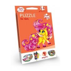 Puzzle для малышей (4 пазла) Фигурные пазлы для самых маленьких!