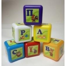 кубики АБЕТКА(укр), в сетке, новые