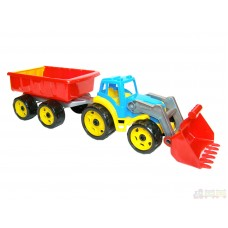 Трактор с ковшем и прицепом Технок (3688)