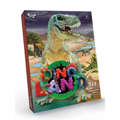 Dino Land 7в1 Dino Land содержит множество увлекательных игр, с которыми вы окунётесь в удивительный мир динозавров