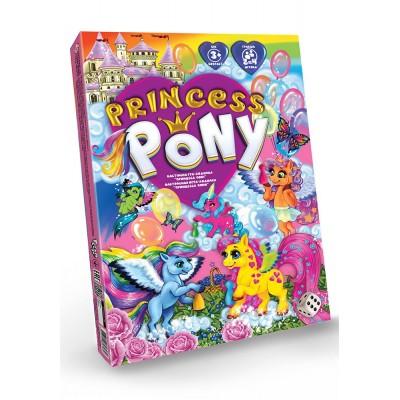 """Princess Pony Бросая кубик и перемещаясь по красочному полю игры """"Принцесса пони"""", игроки постепенно приближаются к победе"""
