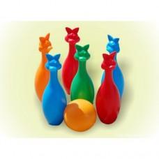 БАМСИК Кегли 6 + 1 шар зайцы