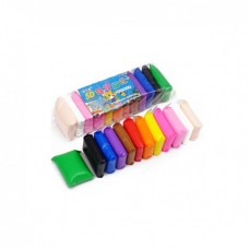 Легкий воздушный пластилин Light Clay 12 цветов с инструментами 145 г (F04К236)