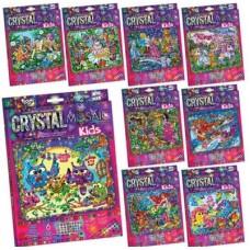 Набор креативного творчества хрустальная мозаика crystal mosaic kids danko toys