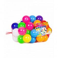 Шарики ( Кульки) игровые для палаток, сухих бассейнов в сетке 50 шт, диаметр 6 см, Украина 0263