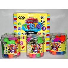 Тесто для лепки Master-Do 18 цветов, в ведерке DankO toys
