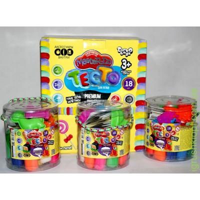 Тесто для лепки Master-Do 18 цветов, в ведерке DankO toys оптом