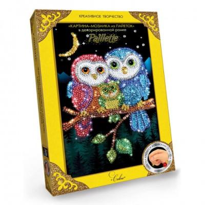 Мозаика из пайеток картина с рамкой Paillette Пм-01 Danko Toys набор для творчества