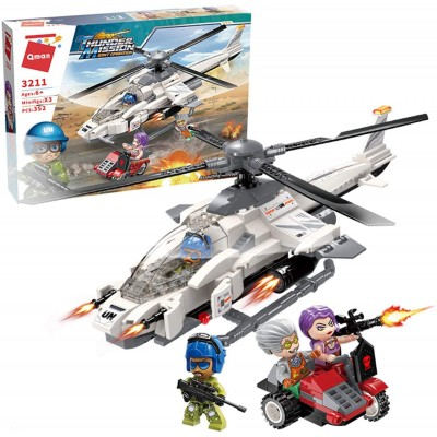 Конструктор Qman 3211 Штурмовой вертолёт, 352 детали
