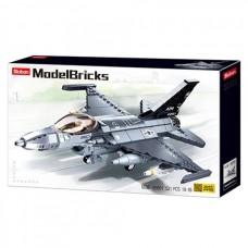 Конструктор Sluban M38-B0891 Истребитель F-16C Сокол, 521 деталь
